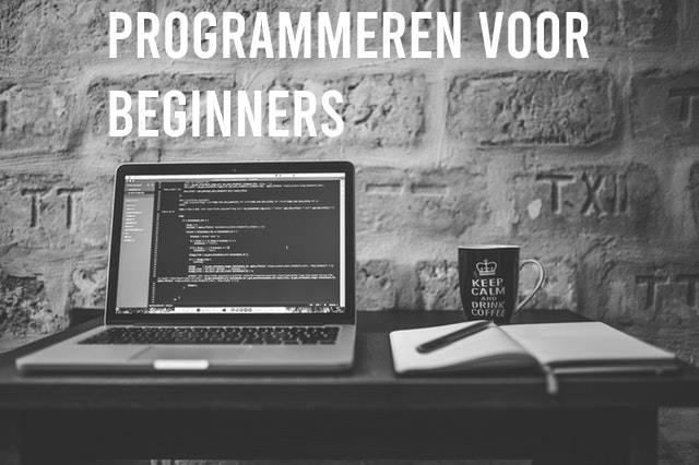 Programmeren voor beginners: Laptop op bureau