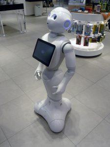 Witte robot, voorbeeld van robotisering arbeidsmarkt