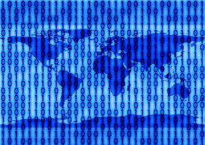 Binary code wereld