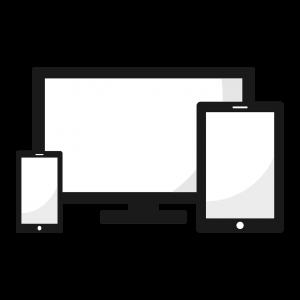 Verschillende schermgroottes van apparaten