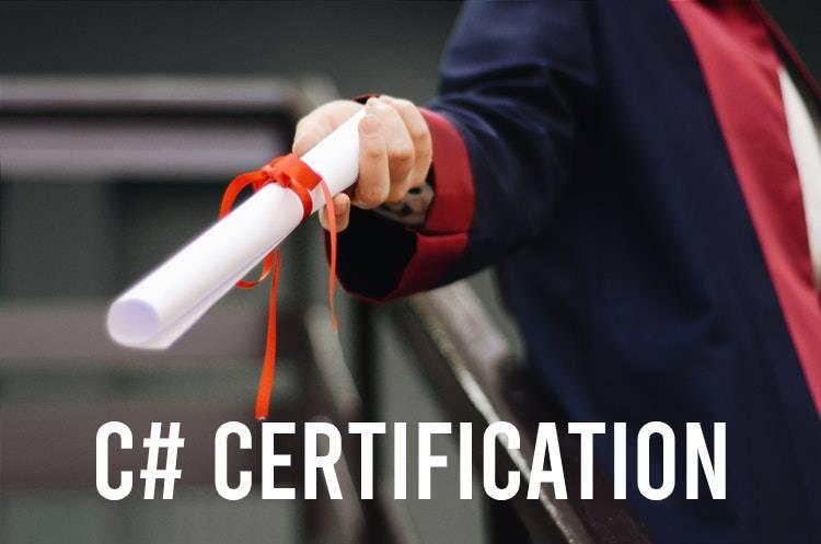 C# (C Sharp) certification uitreiking