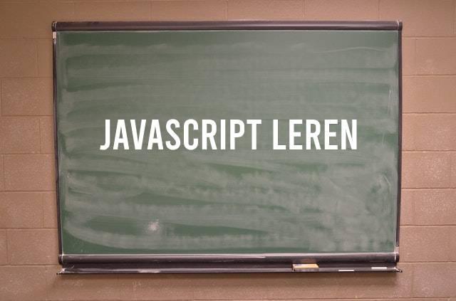 JavaScript leren schoolbord