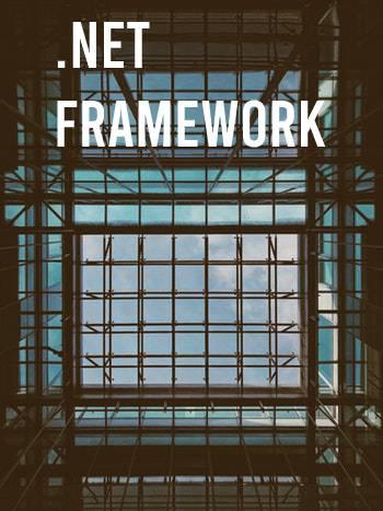 Microsoft .NET (dot net) framework. Raamwerk als achtergrond