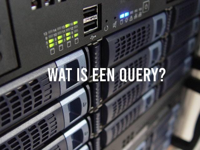 Wat is een query? Datacenter op achtergrond