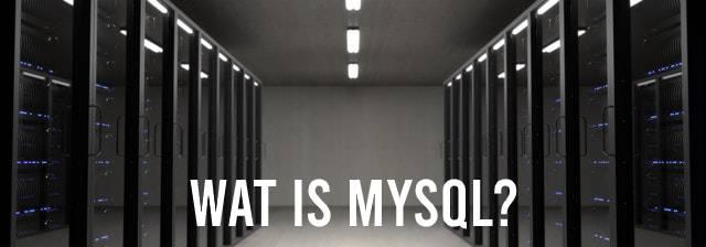 Wat is MySQL? Datacenter op achtergrond
