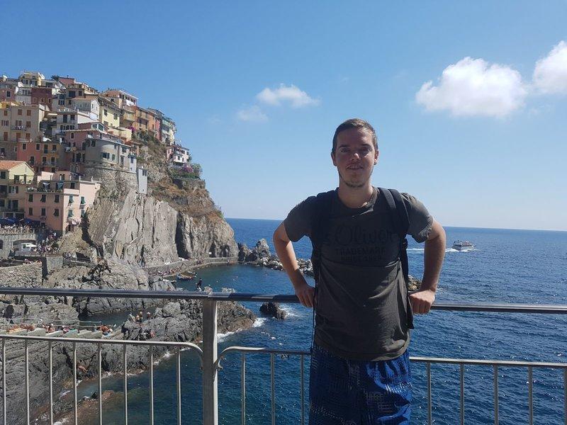 Bas Dingemans in Italië op vakantie