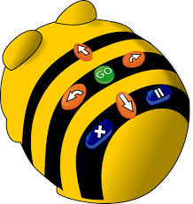 Knoppen op Bee-Bot