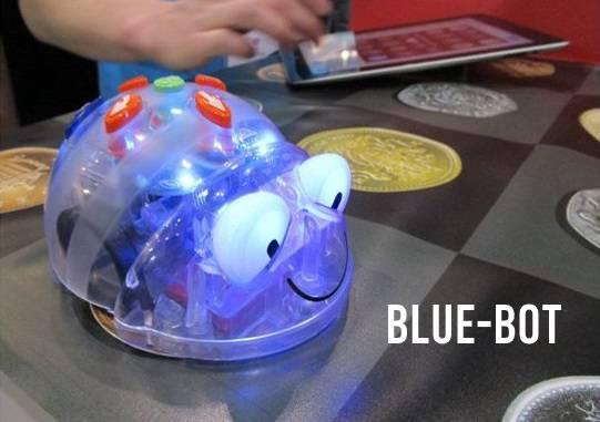 Blue-Bot op mat