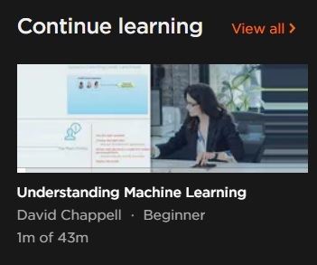 Pluralsight Machine Learning cursus