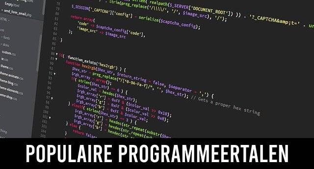 Populaire programmeertalen van nu en vroeger