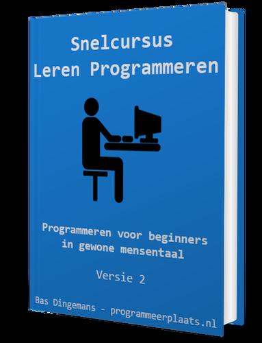 Snelcursus Leren Programmeren 3D cover versie 2