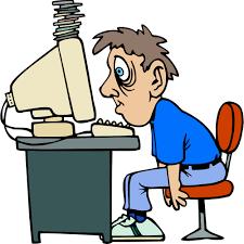 Vermoeid en klachten achter computer