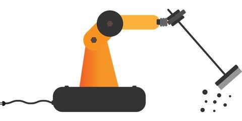 Robot schoonmaken, voorbeeld robotica