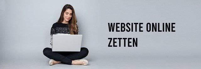 Website online zetten, vrouw zittend met laptop
