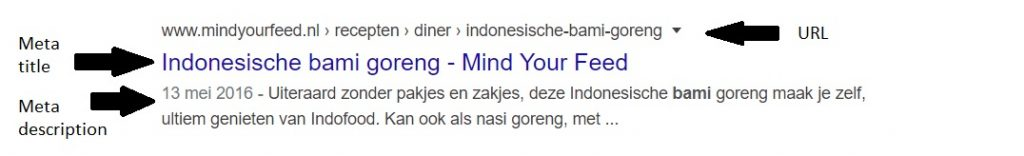 Bami recept Google resultaten