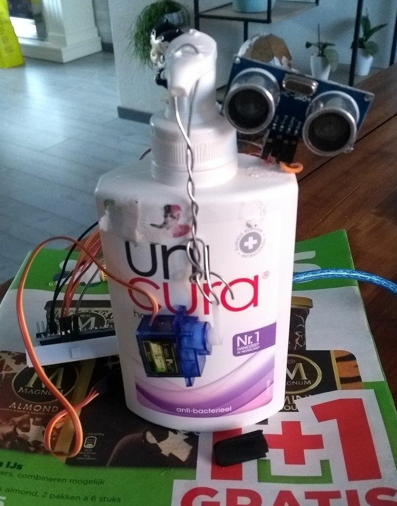 Automatische zeepdispenser prototype