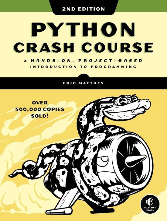 Python Crash Course 2nd Edition boek
