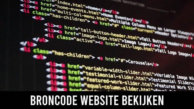 Broncode website bekijken