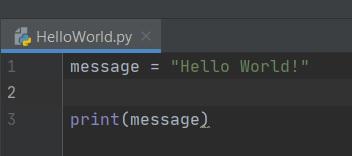 Hello World! in Python bestand