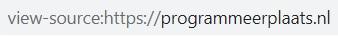 View source code URL in Google Chrome en Firefox