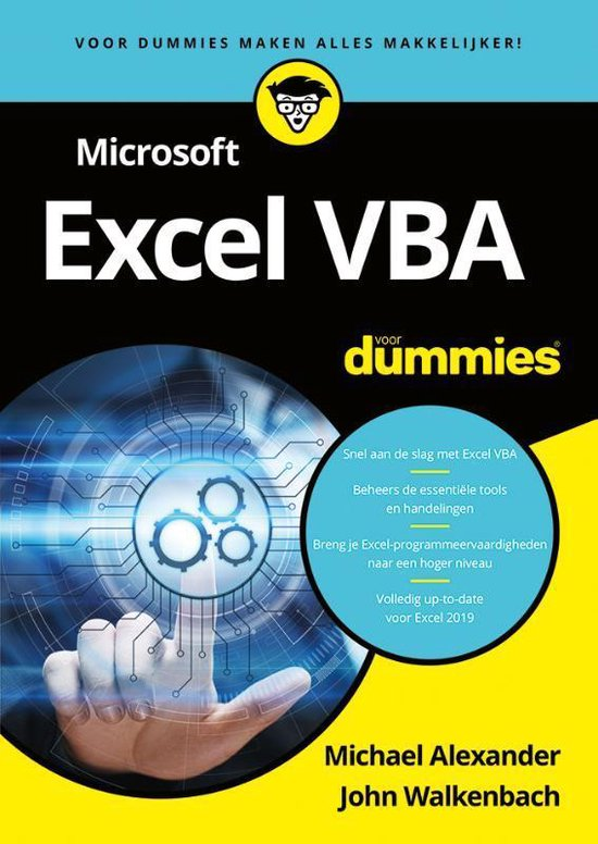 Microsoft Excel VBA voor dummies (Michael Alexander & John Walkenbach) boek