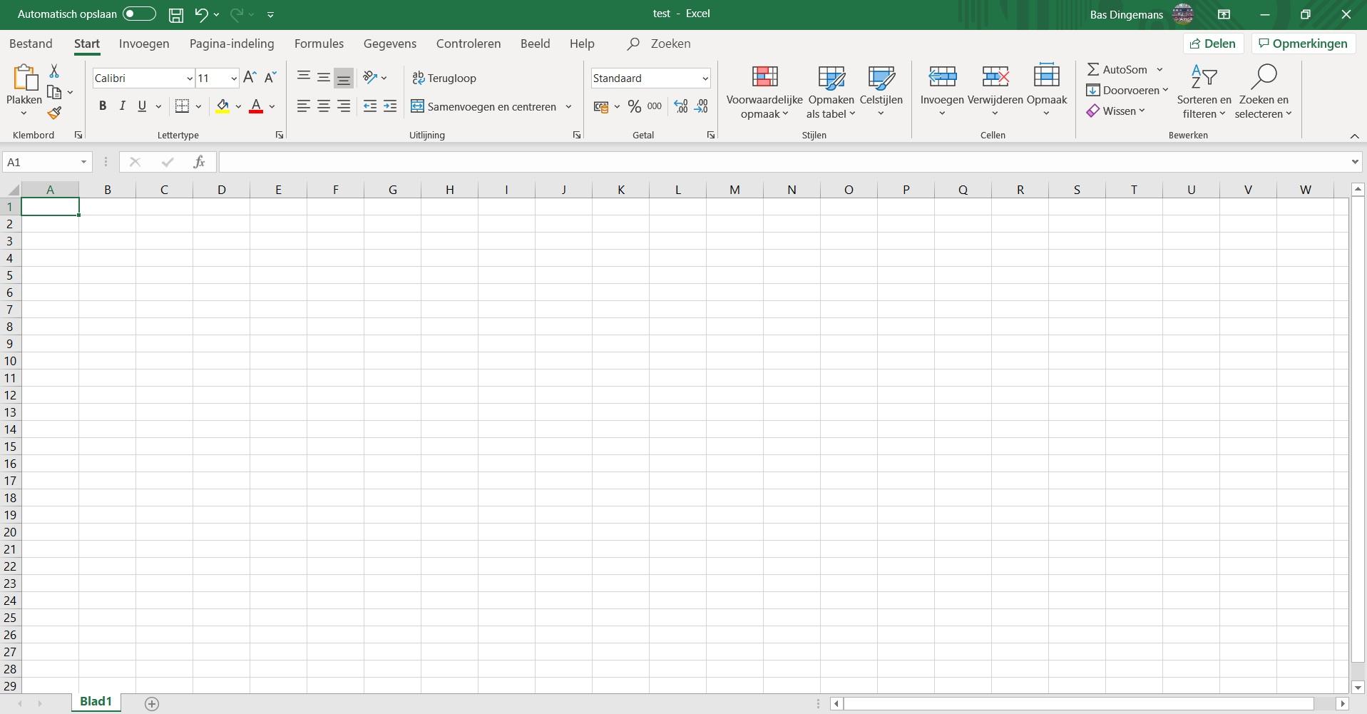 Werkmap Excel
