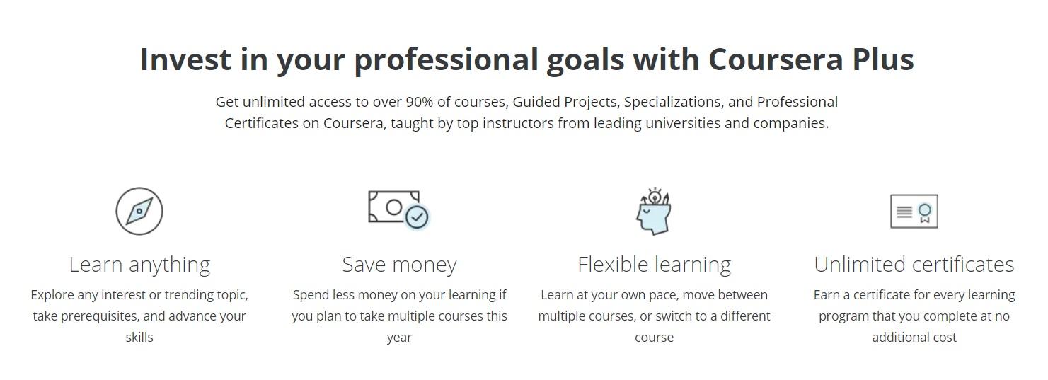 Coursera Plus professional goals
