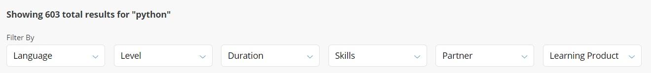 Filter resultaten Coursera