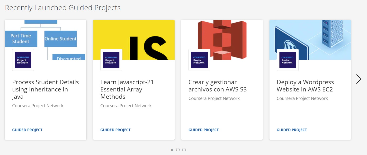 Guided Projects Coursera