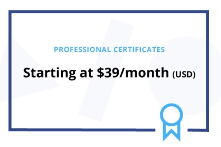 Professional Certificates Coursera