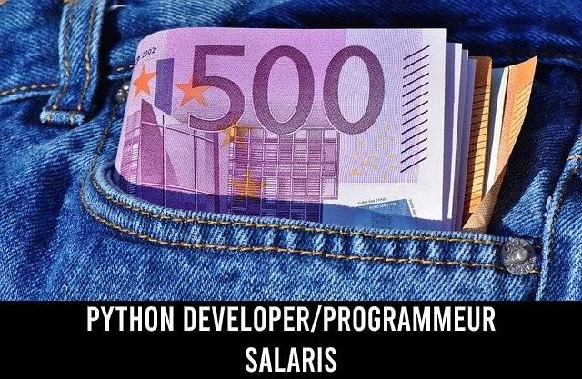 Python developer/programmeur salaris