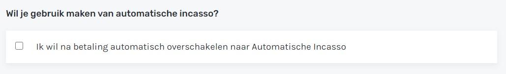 Automatische incasso Cloud86