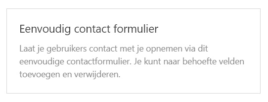 Eenvoudig contact formulier WPForms WordPress