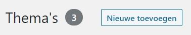 Thema's nieuwe toevoegen WordPress