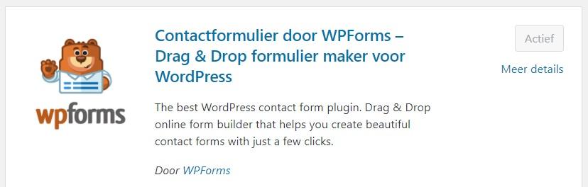 WPForms plugin installeren WordPress