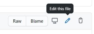 Bewerken knop bestand GitHub