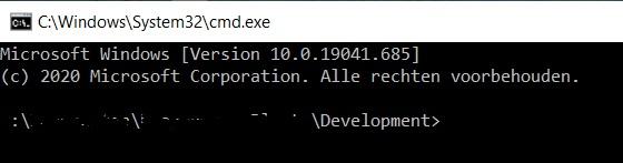 Development map pad command line interface Windows