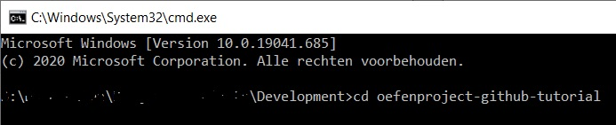 Naar map repository command line interface