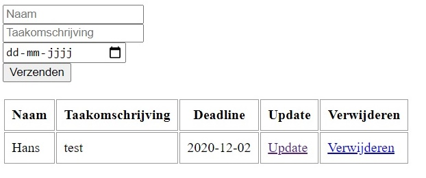 Read instructie van de to-do list met PHP, PDO en een MySQL database