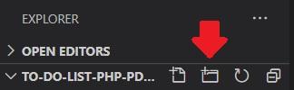 To-do list new folder Visual Studio Code