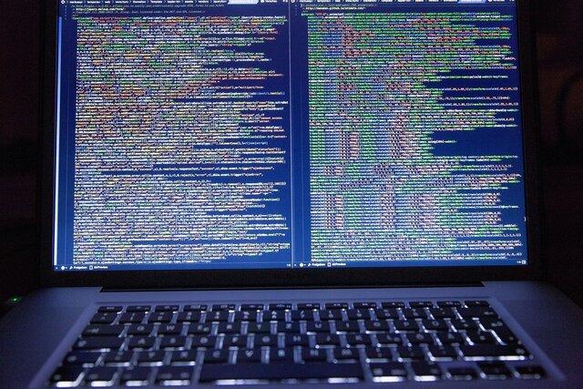 Veel code op laptop
