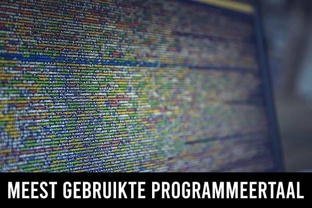 Meest gebruikte programmeertaal
