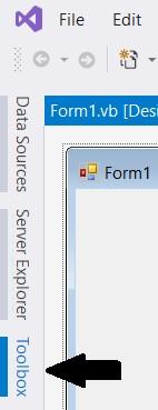 Visual Studio: Windows Forms App toolbox