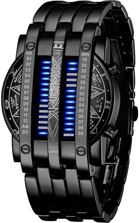 Binair matrix horloge